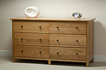 Cairo Solid Oak Wide 6 Drawer Chest