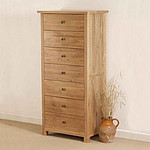Cairo Solid Oak 7 Drawer Chest