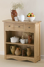 Cairo Solid Oak Low Wide Display Unit