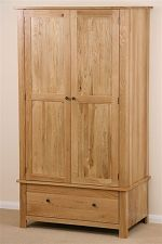 Chaucer Solid Oak Double Wardrobe