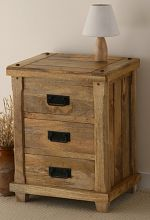 Baku Light Mango 3 Drawer Bedside Chest