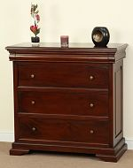 Sleigh Solid Mahogany 3+1 Chest of Drawers