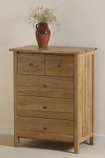 Chaucer Solid Oak Tall Chest of Drawers