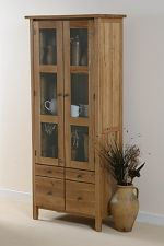 Chaucer Solid Oak Glazed Display Cabinet