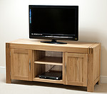 Alto Solid Oak Widescreen TV + DVD Cabinet