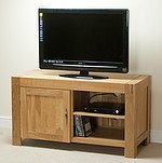 Alto Solid Oak TV + DVD Cabinet