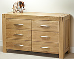 Alto Solid Oak 6 Drawer Wide Chest
