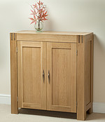 Alto Solid Oak Hi Fi / CD Storage / Media Cabinet