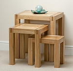 Alto Solid Oak Nest of Tables