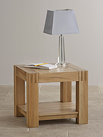 Alto Natural Solid Oak Side Table