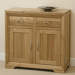 Bevel Solid Oak Small Sideboard