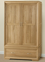 Bevel Solid Oak Wardrobe