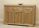 Bevel Solid Oak Large Sideboard