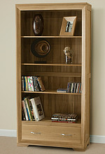 Bevel Solid Oak Tall Bookcase