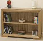 Bevel Solid Oak Wide Bookcase