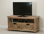 Baku Light Solid Mango TV + DVD Cabinet with Drop-Down Door