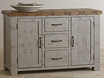 Clermont Painted Rough Sawn Oak Large Sideboard