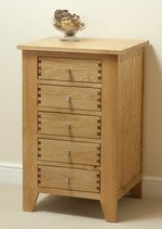 Dovedale Solid Oak 5 Drawer Chest