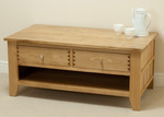 Dovedale Solid Oak Coffee Table with Storage
