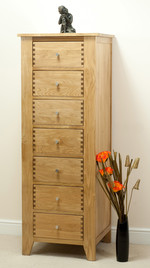 Dovedale Solid Oak 7 Drawer Chest