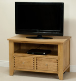 Dovedale Solid Oak TV + DVD Cabinet