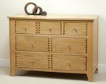 Dovedale Solid Oak 3 + 4 Drawer Chest