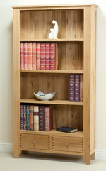 Dovedale Solid Oak Tall Bookcase