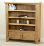 Dovedale Solid Oak Low Display Unit with 2 Drawers