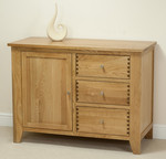 Dovedale Solid Oak Storage Cabinet