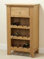 Dovedale Solid Oak Wine Rack