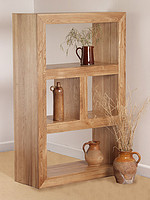 Nero Solid Oak Bookcase / Storage Unit