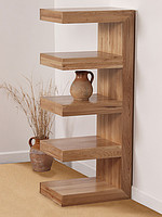 Nero Solid Oak E Display Unit