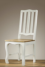 French Shabby Chic Painted Mango Dining Chair
