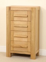 Fresco Solid Oak 4 Drawer Chest
