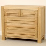 Fresco Solid Oak 2 + 3 Drawer Chest