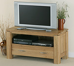 Galway Solid Oak TV + DVD Stand