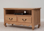Grace Solid Washed Oak TV Cabinet