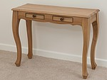 Grace Solid Washed Oak Console Table