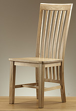Solid Oak High Slat Back Dining Chair