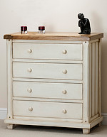 Shabby Chic Solid Mango 4 Drawer Chest
