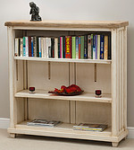 Shabby Chic Solid Mango Low Bookcase