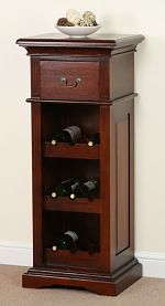 Louis Philippe Solid Mahogany Wine Rack
