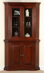 Louis Philippe Solid Mahogany Corner Cabinet