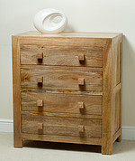 Mantis Light Solid Mango 4 Drawer Chest