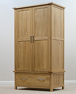 Newark Solid Oak Double Wardrobe