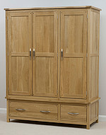 Newark Solid Oak Triple Wardrobe