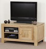 Oakdale Solid Oak Widescreen TV + DVD Cabinet