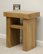 Nero Solid Oak Lamp Table
