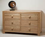Oakdale Solid Oak 6 Drawer Chest