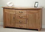 Tokyo Solid Oak Large Sideboard